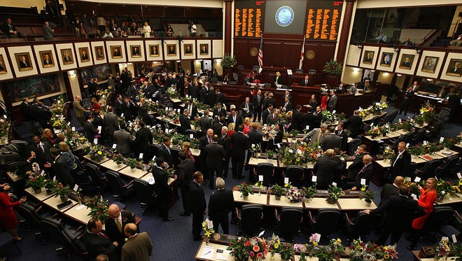 In the Senate chamber, legislators gets down to business on March 5, the opening day of this session.