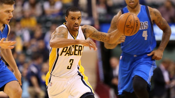 George Hill is set to return tonight after missing the Pacers' first 28 games this season.