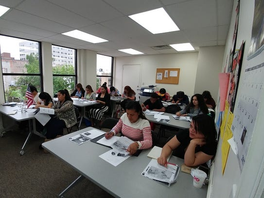Immigrant students honing their spoken and written
