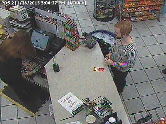 The Ionia County Sheriff's Office has released this photo of a subject wanted in connection with a hit and run at a Pilot gas station on Jan. 28.