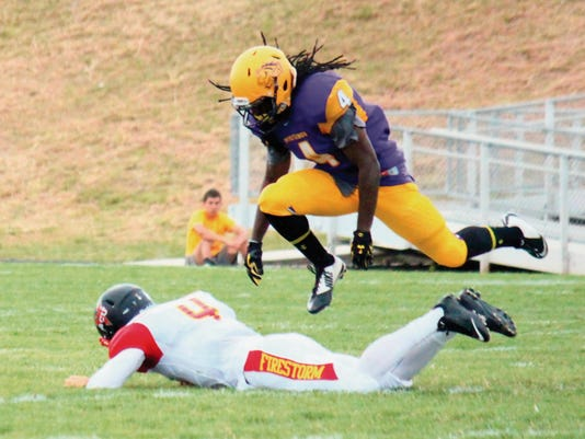Danny Udero/Sun-News   Darius Guillory, a defensive back at WNMU, will have to perform outstanding in order to keep Highlands off the edge Saturday.