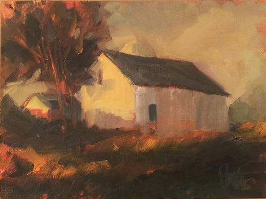 """""""Autumn Haze,"""" oil on linen panel by Georgene Pomplun, part of the """"Gifts From the Heart"""" art show from Sept. 24 to Oct. 30 at Edgewood Orchard Galleries."""