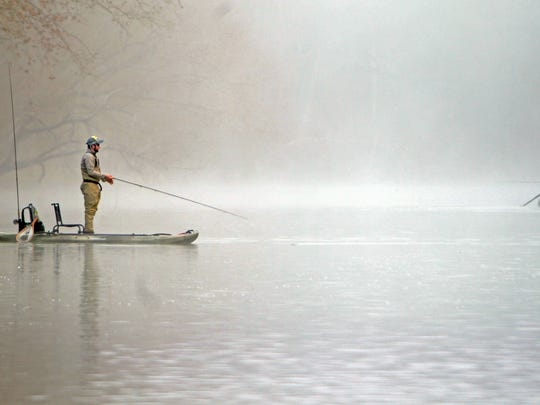 These anglers began fishing within 50 yards of where they launched.