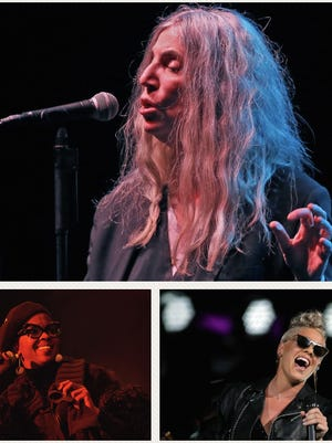 Patti Smith (top), Lauryn Hill (bottom left) and Pink (bottom right) put on the best Milwaukee concerts of 2017, according to the Journal Sentinel.