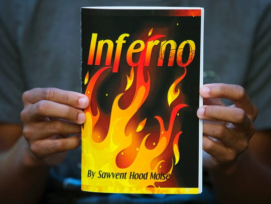 """""""Inferno"""" was written by 13-year-old Sawvent Hood-Moise."""