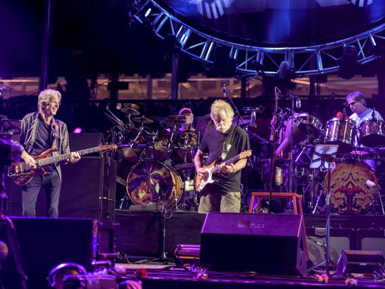 Phil Lesh, from left, Bill Kreutzmann, Bob Weir, Mickey Hart perform at Levi's Stadium on June 27 in Santa Clara, California.