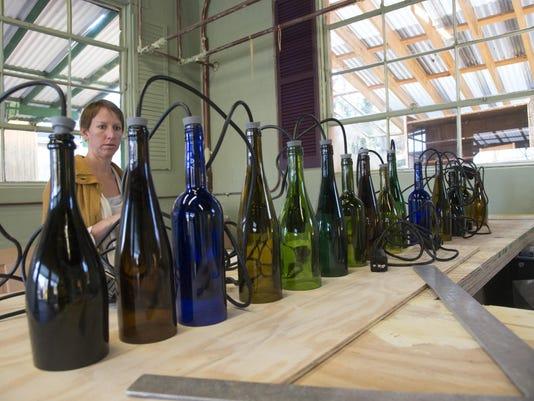 BMN 111915 Wine bottle chandelier