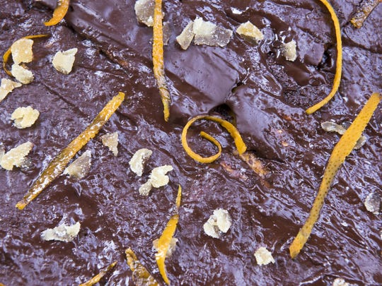 Chocolate-covered carmelized matzoh crunch made for Passover.