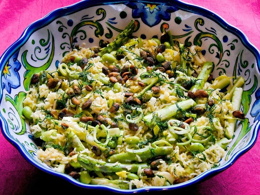 One Good Meatless Recipe: Embrace spring with a green pilaf