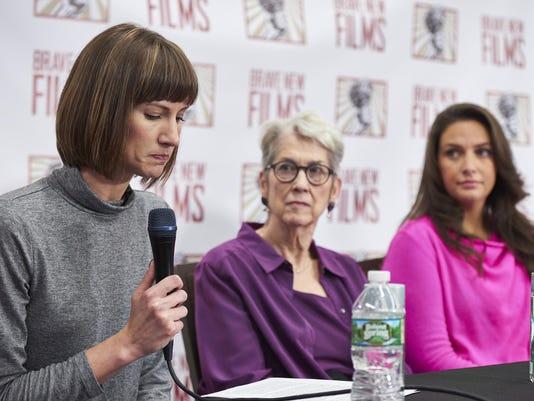 Trump accusers hold press conference, demand investigation