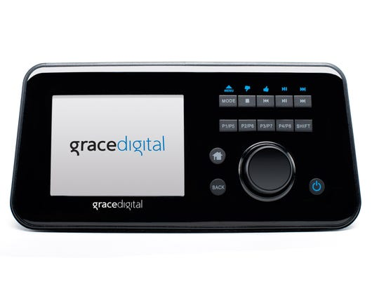 The Primo Wi-Fi Media Streamer from Grace Digital provides speedy access to radio stations from around the world as well as access to podcasts and online services, such as SiriusXM, Pandora and Rhapsody