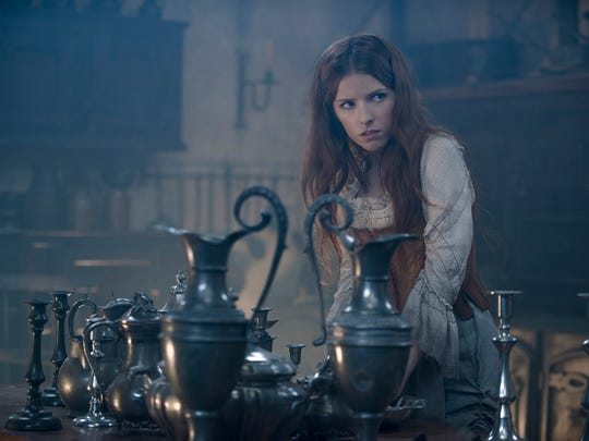 """AP/Disney Enterprises, Inc., Peter MountainAnna Kendrick stars as Cinderella in a scene from """"Into the Woods."""" In this image released by Disney Enterprises, Inc., Anna Kendrick stars as Cinderella in a scene from """"Into the Woods."""" (AP Photo/Disney Enterprises, Inc., Peter Mountain)"""
