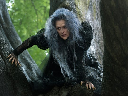 """This photo released by Disney Enterprises, Inc. shows Meryl Streep as the Witch in a scene from the film, """"Into the Woods."""" The movie opened in theaters Dec. 25, 2014. (AP Photo/Disney Enterprises, Inc., Peter Mountain)"""
