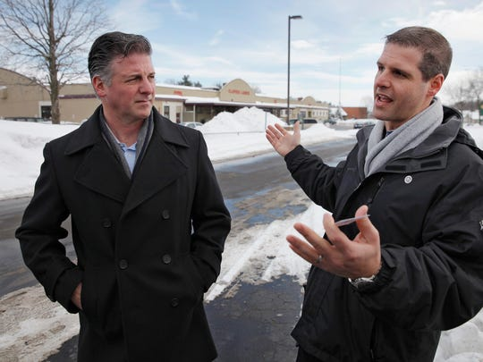 Anthony and Danny Daniele announce plans for the Whole Foods plaza at the Monroe Avenue site in 2015.
