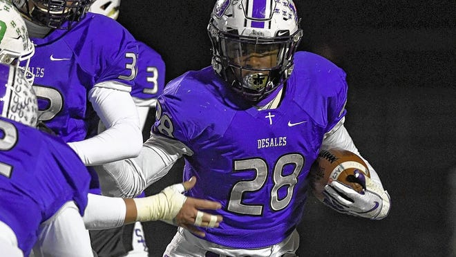 Senior running back Quintell Quinn and the DeSales football team will open at Watterson on Friday, Aug. 28. Quinn rushed for 161 yards and a touchdown in a 20-16 victory over the Eagles last season.