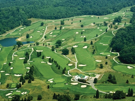 Aerial view of the Donald Ross course in French Lick, Ind.