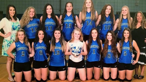 The Brockport girls varsity volleyball team. provided photo