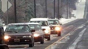 File photo: Icy road