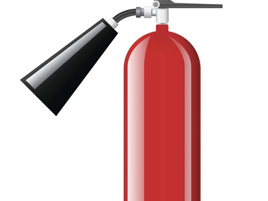 Portable fire extinguisher.