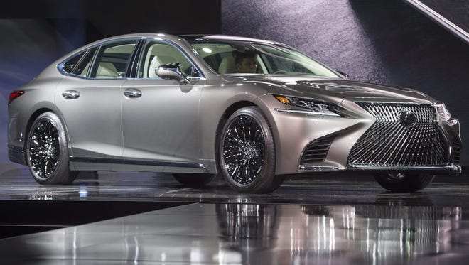 The 2018 Lexus LS is revealed during the 2017 North American International Auto Show in Detroit, January 9, 2017.