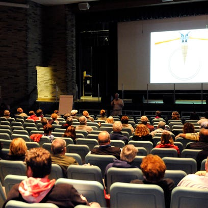 About 80 people attended a community vision meeting hosted at Port Clinton's Performing Arts Center on Wednesday evening.