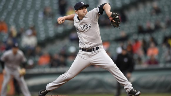 Pitcher Nick Goody, shown in this Oct. 3, 2015, file