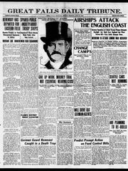 Front page of the Great Falls Daily Tribune on July 23, 1917.