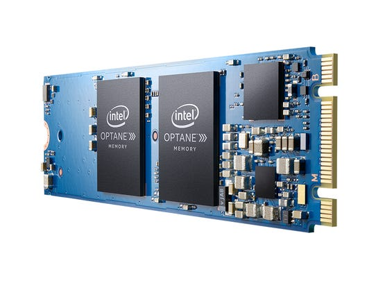 Optane memory on a motherboard.