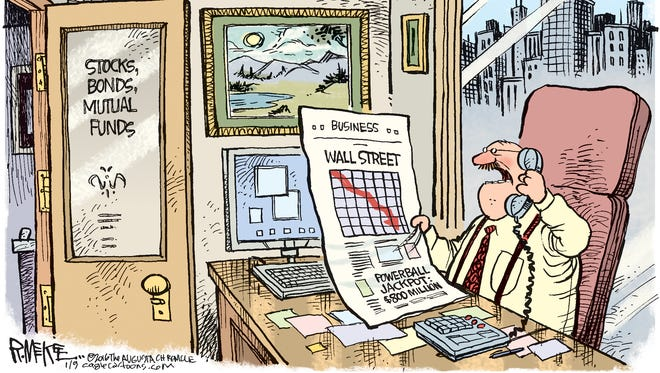 Rick McKee, The Augusta Chronicle, drew this Desert Sun editorial cartoon for Jan. 11, 2016.