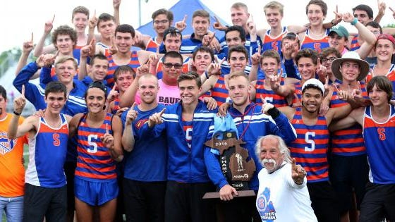 The Saugatuck boys track team was a dynasty during the 2010-19 decade.
