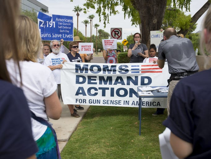 Gun-control advocates rally in Phoenix for Whatever It ...