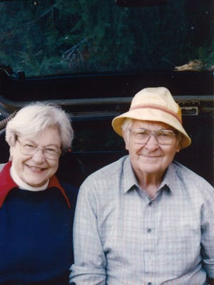 John Ayres, left, with his wife, Anne. Many say John exemplified the Greatest Generation.