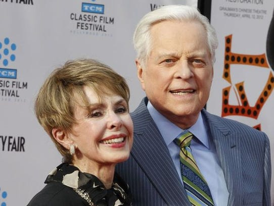 Barbara Rush and Robert Osborne at the 2012 TCM Classic