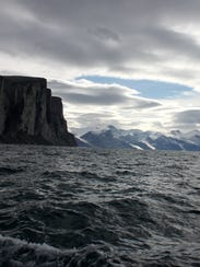 Scott Inlet — across Baffin Bay from Greenland, viewed