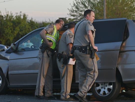 CHP officers investigated a deadly collision, just