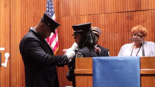 Plainfield Fire Division promoted nine firefighters to the rank of lieutenant, including the division's first female officer.