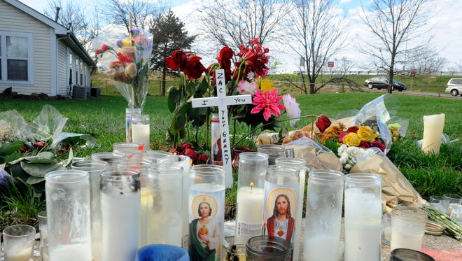 A roadside memorial for Zachary Gillespie, 18, has continued to grow since Friday.