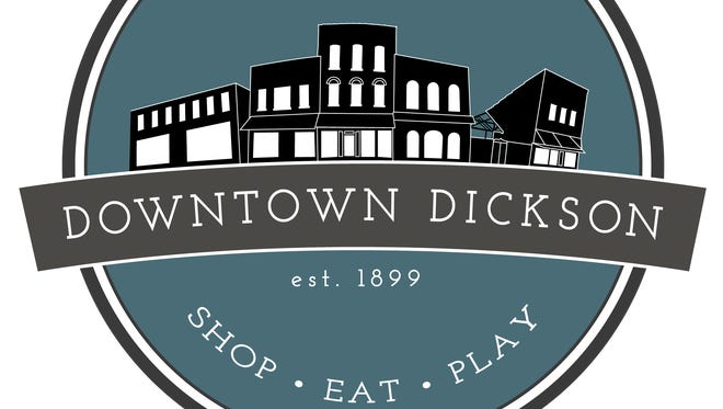 Newly created official logo for Historic Downtown Dickson. The logo is now on a metal sign alongside North Main Street.