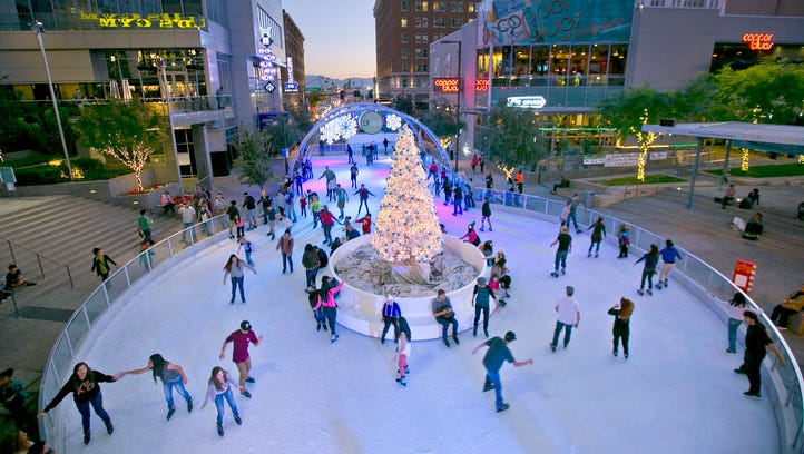 CitySkate's ice rink in downtown Phoenix offers real