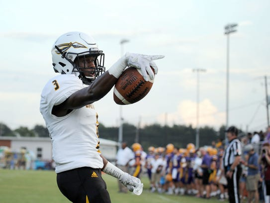 Oak Grove receiver Deltarus Thompson was named to the