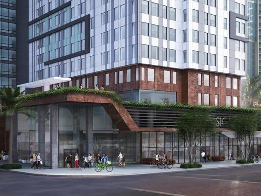 Proposed apartment complex