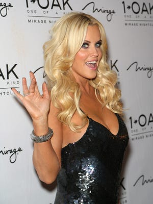 Jenny McCarthy attends a Valentine's weekend party in Las Vegas.