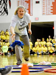 Students and faculty team up for Battle of the Buildings to raise funds for scholarships for Susquehannock High School seniors and alumni programs at Susquehannock High School in Glen Rock, Thursday, Feb. 22, 2018. Dawn J. Sagert photo