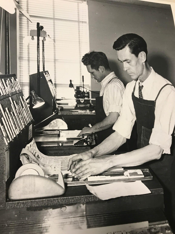 Salinas Californian employees work on getting the newspaper