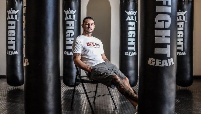 Cub Swanson at his training gym Tru MMA in Indio on Thursday, November 2, 2016.