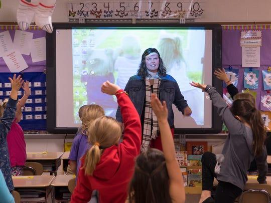 Elberfeld Elementary School first grade teacher Andrea