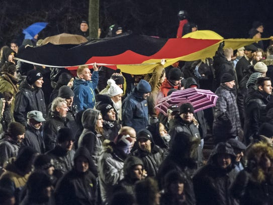 A rally organized by the a group called Patriotic Europeans