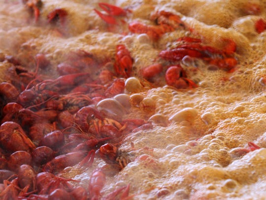 This Advertiser file photo shows crawfish being boiled at a festival.
