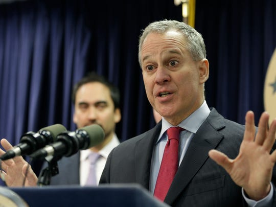 Former New York attorney general Eric Schneiderman in New York on March 21, 2016.