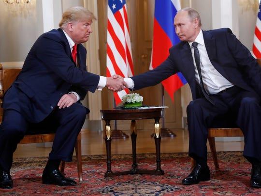 El presidente de EU Donald Trump y su contraparte ruso
